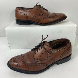Allen Edmonds Concord Wing Tip Shoes Men Sz 7.5